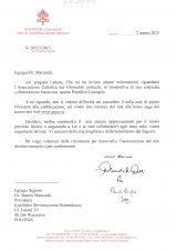 List Abp. Claudio Maria Celli do KSD