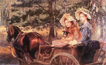 Crki W Kossaka Magdalena i Maria malowa ojciec